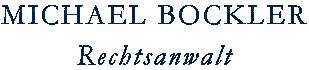 Rechtsanwalt Michael Bockler Logo